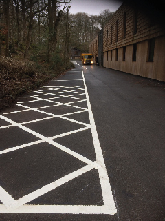 After white line painting cumbria